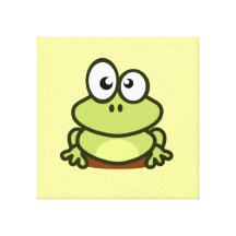 Cute Frog Gallery Wrapped Canvas