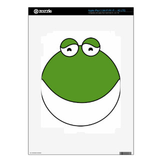 Cute Frog Head Skin For iPad 3