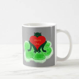 Cute Frog & Heart Funny Coffee Cup