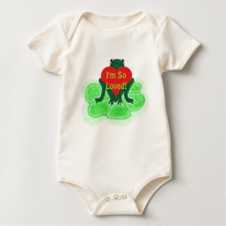 Cute Frog & Heart on Lily Pad Romper