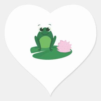 Cute Frog Heart Sticker