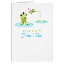 Cute Frog Hoppy Happy Father's Day card