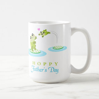 Cute Frog Hoppy Happy Father's Day Mugs