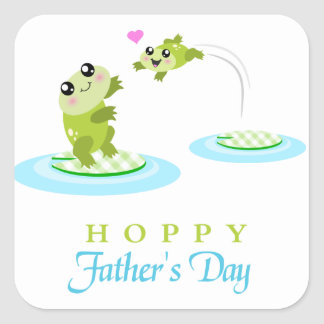 Cute Frog Hoppy Happy Father's Day Stickers