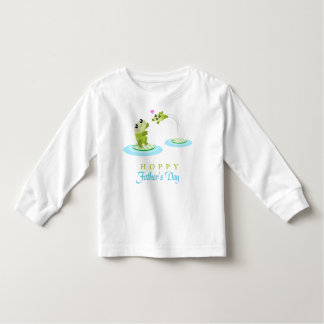 Cute Frog Hoppy Happy Father's Day Toddler T-shirt