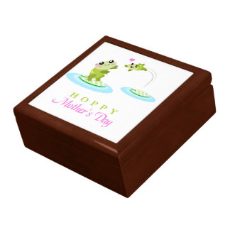 Cute Frog Hoppy Happy Mother s Day Trinket Boxes