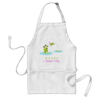 Cute Frog Hoppy Happy Mother's Day Adult Apron