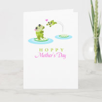 Cute Frog Hoppy Happy Mothers Day card