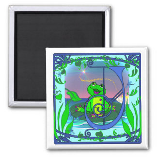 Cute Frog Initial J Magnet Refrigerator Magnets