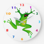 CUTE FROG Kids Wall Clock