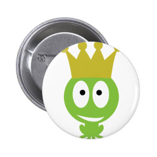 cute Frog King comic style 2 Inch Round Button