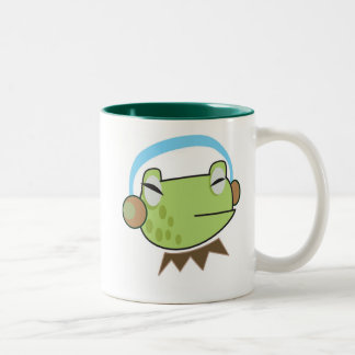 Cute Frog Listening to The Music Mug