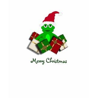 Cute Frog Merry Christmas Tshirt shirt