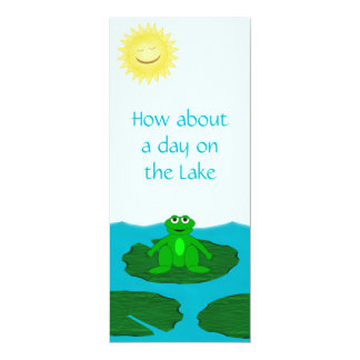 Cute Frog on a Lily Pad Invitation