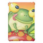 Cute Frog on Mushroom Cover For The iPad Mini
