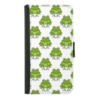 Cute Frog Pattern Samsung Galaxy S5 Wallet Case