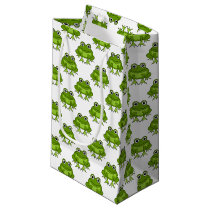 Cute Frog Pattern Small Gift Bag