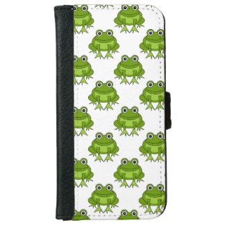 Cute Frog Pattern Wallet Phone Case For iPhone 6/6s