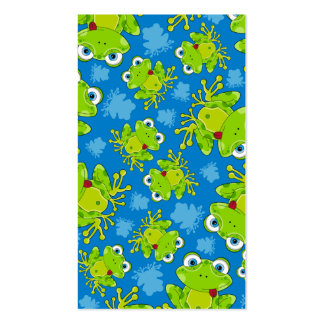 Cute Frog Patterned Bookmark Business Card