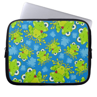 Cute Frog Patterned Laptop Case Laptop Computer Sleeve