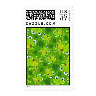 Cute Frog Patterned Stamp
