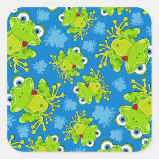 Cute Frog Patterned Sticker