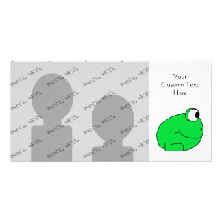 Cute Frog. Photo Card Template