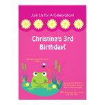 Cute Frog Pond Birthday Party Invitation