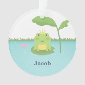 Cute Frog Prince For Boys Room Decor Ornament