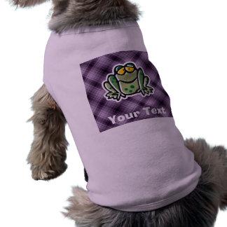 Cute Frog; Purple Doggie Tshirt