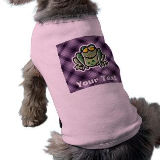 Cute Frog Purple Doggie Tshirt