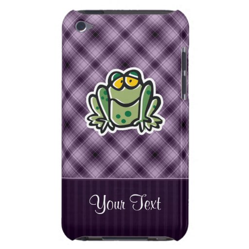 Cute Frog; Purple iPod Touch Cases