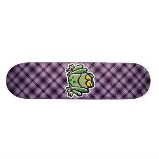 Cute Frog; Purple Custom Skate Board