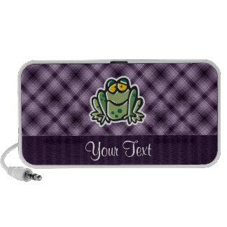 Cute Frog; Purple Travelling Speakers