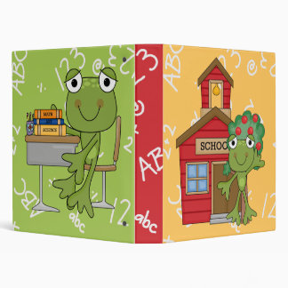 Cute Frog School Notebook 3 Ring Binder