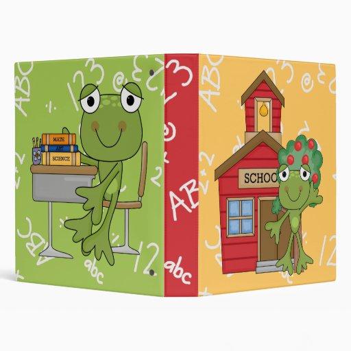 Cute Frog School Notebook Vinyl Binder