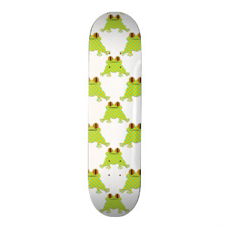 Cute Frog - Seamless Pattern Skateboard Deck