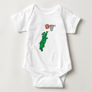 cute frog shooting basket baby bodysuit