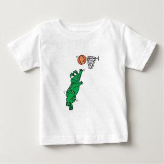 cute frog shooting basket baby T-Shirt