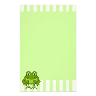 Cute Frog Stationery