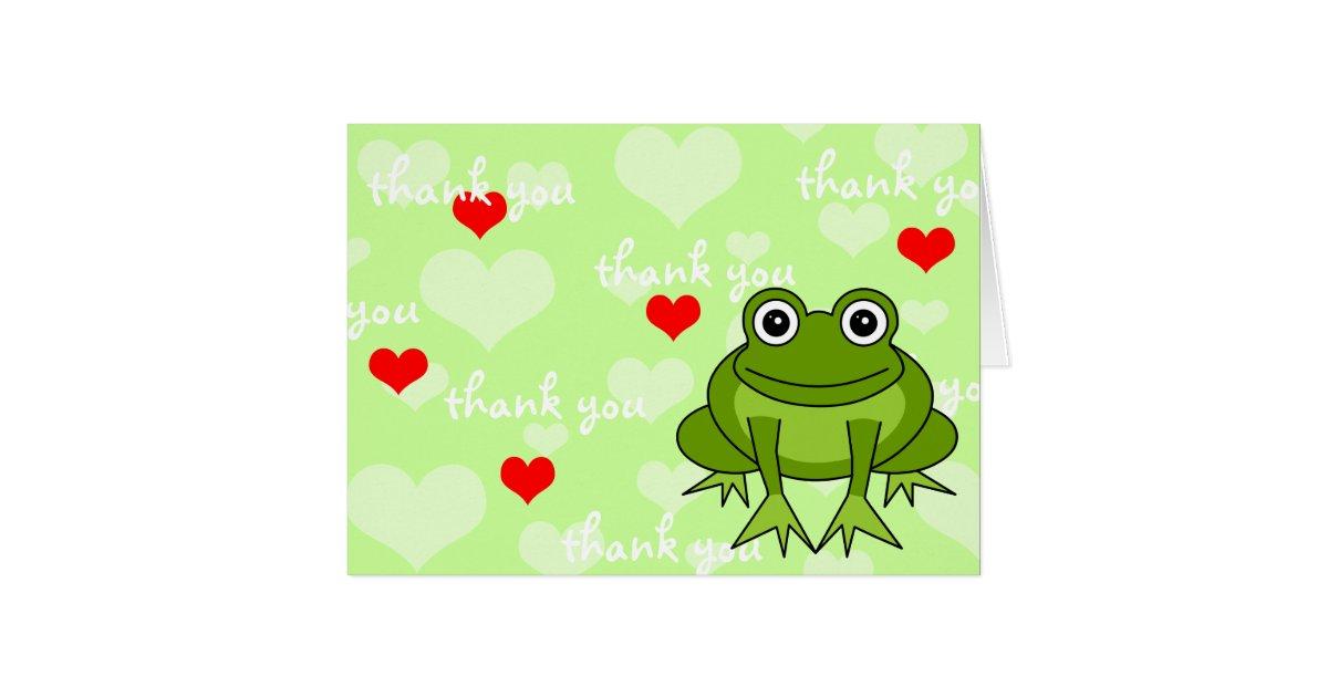 Cute Frog Thank You Card | Zazzle.com
