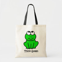 Cute Frog Think Green Tote Bag