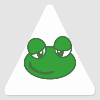 Cute Frog Triangle Sticker