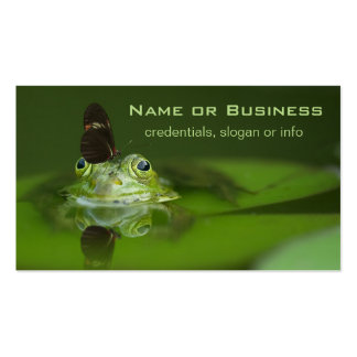 Cute frog with a Butterfly on his nose Business Card