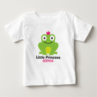 Cute frog with crown and personalized baby name baby T-Shirt