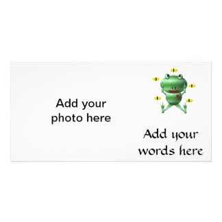 Cute Frog with Flies Card
