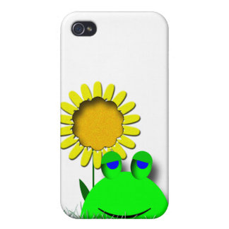 Cute Frog with Sunflower iPhone 4/4S Case