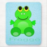 Cute Froggo Frog Mouse Pad