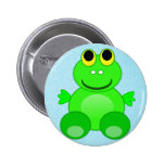 Cute Froggo Frog Pinback Buttons