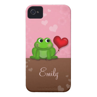 Cute Froggy Heart Balloon iPhone 4/4S Case Case-Mate iPhone 4 Cases